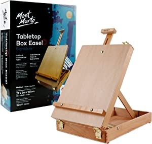 Mont Marte Tabletop Easels for Painting, Desk Box Easels for Kids Adults&Artists,Beech Wood