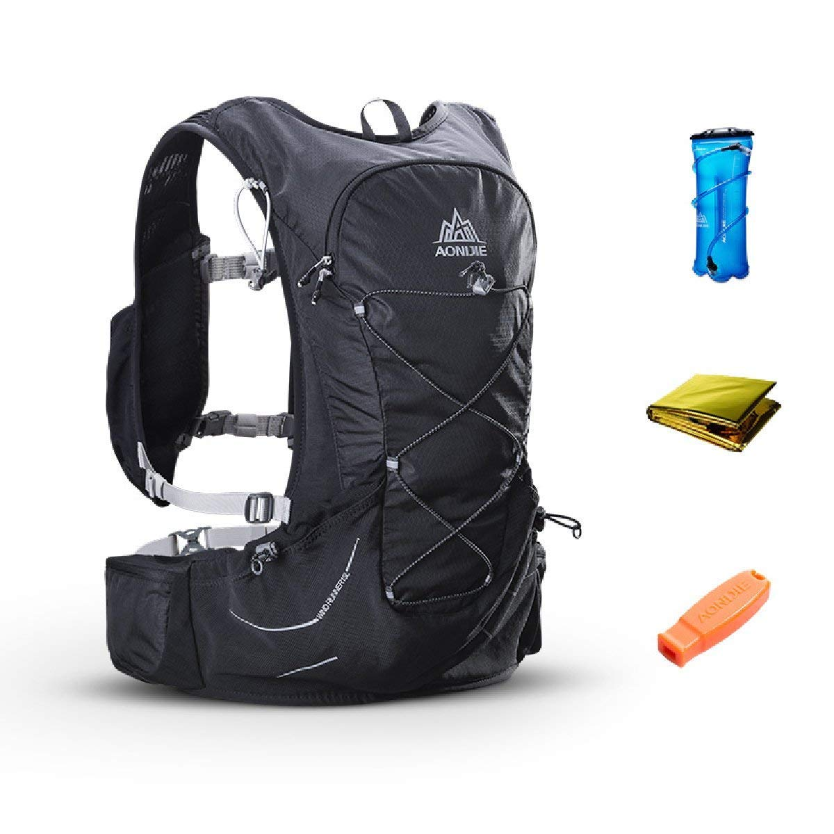 8798d9cdbb AONIJIE 15L Outdoor Hydration Pack Ultra Trail Lightweight Running Vest  Marathon Backpack with 3L Water Bladder, First Aid Blanket, Whistle for  Survival