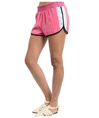 2dbf536c24 G2 Chic Women's Active Colorblocked Elastic Dolphin Running Shorts (ACT-SHT,PNK-