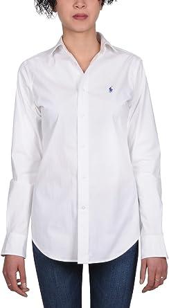 Ralph Lauren Mujer V33ig270bg207b1426 Blanco Algodon Camisa ...