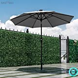 SKEMiDEX 9 FT Patio Solar Umbrella Tilt Deck Waterproof Garden Market Beach Gray Our umbrella features a popular color and stylish design that will live up any outdoor living space.