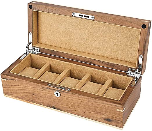 GOVD Caja para Guardar Relojes Madera Organizador de Joyerías para Guardar Relojes, para Relojes A: Amazon.es: Hogar