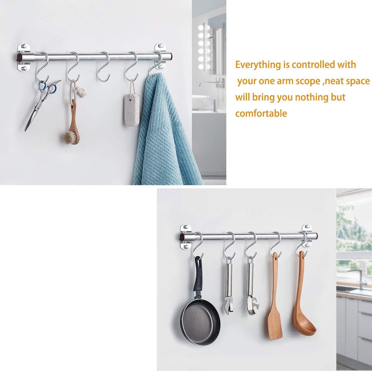 20 Paquete Ganchos en Forma de S,S Ganchos Cocina Metal Acero Inoxidable ganchos para el gabinete de la Cocina Oficina del Dormitorio del ba/ño