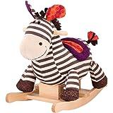 B.Toys 比乐 摇摇马斑马卡祖木质毛绒摇椅玩具婴幼儿童玩具礼物18个月+BX1642Z