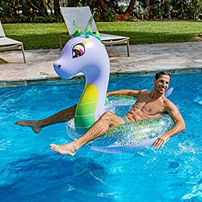 Poolcandy Glitter Dragon Jumbo Beach & Pool Tube - 48