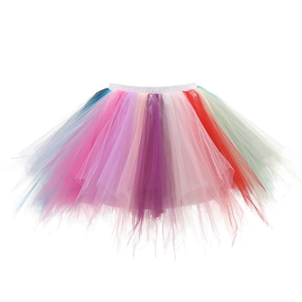 TUDUZ Damen Hochwertige Plissee Gaze Farben Kurzen Rock Erwachsenen Tutu Tanzen Rock Abendkleid Karneval Fasching Tanzkleid Mode-1008666