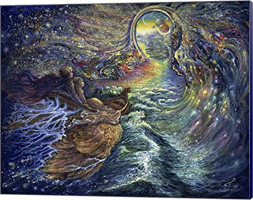 The Gateway by Josephine Wall Canvas Art Wall Picture, Museum Wrapped with Navy Blue Sides, 20 x 16 inches