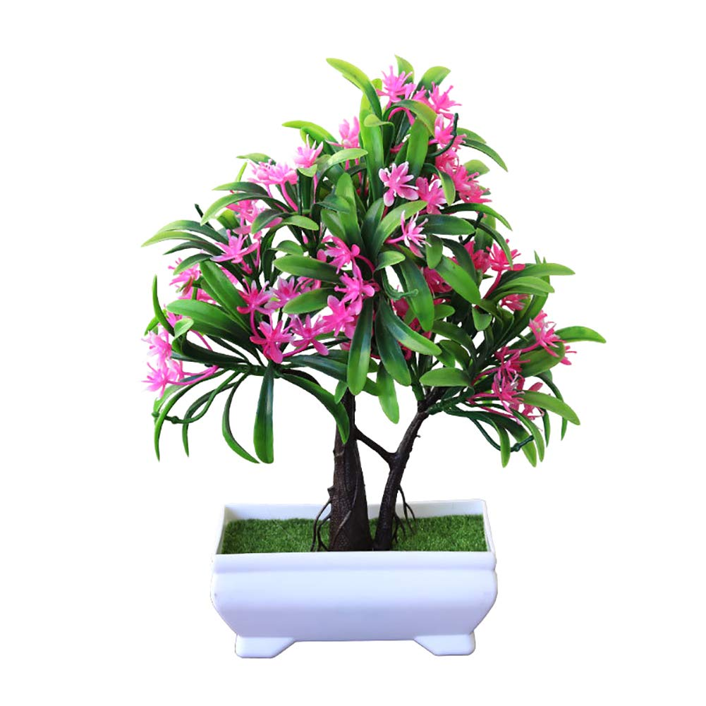 LAA 1pcs Fake Potted Plants Plastic Fake Tree Plants Artificial Plants Mini Fake Potted Artificial Plant Potted Potted Artificial Plants Bushes Faux Potted for Bathroom,House Decorations