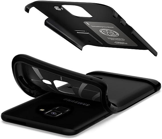 Spigen Coque Samsung A8 2018, Coque Galaxy A8 2018 [Slim Armor] Protection Extreme, Anti Choc, Anti Rayure, Coque Housse Etui Compatible avec Samsung ...