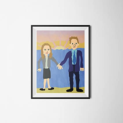 Jim And Pam Wedding.Amazon Com My Party Shirt Jim Pam Wedding Poster The Office