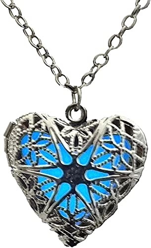 valentines day Gift For Girl Her Magical Fairy Glow in the Dark Heart Necklace