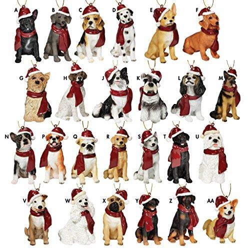 Christmas Ornaments - Xmas Dog Holiday Ornaments: Set of 25