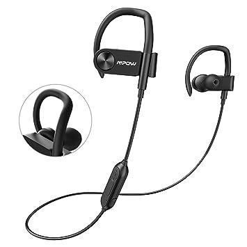 Mpow Auriculares Bluetooth, [hasta 16 horas] tiempo de reproducción, IPX7 impermeable,