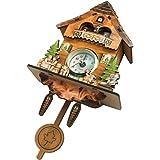 Baoblaze Vintage Reloj de Pared del Diseño de Cuco Reloj de Madera, Varios Estilos Seleccionables
