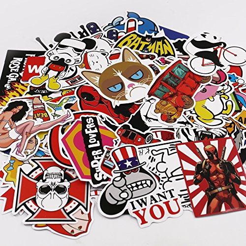 Type 3 UTSAUTO Graffiti Stickers Decals Pack of 100 pcs Car Stickers Motorcycle Bicycle Skateboard Luggage Phone Pad Laptop Stickers And Bumper Patches Decals Waterproof