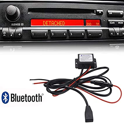 Drimfly BMW Radio Auxiliary Input Bluetooth Streaming Adapter for BMW 3 E46  325i 325ci 325xi 330i 330ci 330xi M3 - Supports AptX