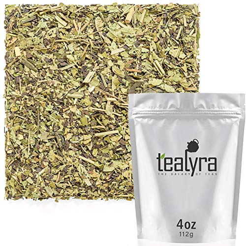 (Tealyra - Lemon Green Detox - Yerba Mate - Matcha Green Tea Powder - Verbena - Wellness Herbal Loose Leaf Tea - Caffeine Low - All Natural - 112g (4-ounce))