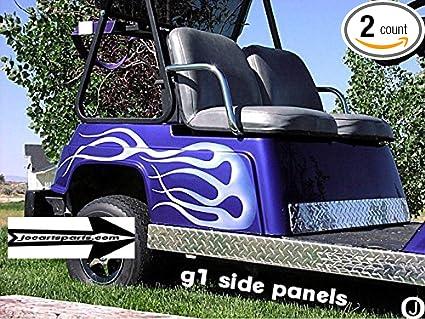 Amazon.com: Yamaha G1 Carrito de golf Diamond Plate paneles ...