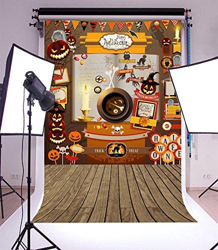 Desktop Cute Halloween Wallpapers (Yeele 5x7ft Vinyl Photography Background Happy Halloween Photography Backdrop Studio)