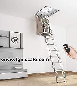 Escalera Plegable Motorizada Rotatoria Para el Altillo AutoAttic® Escalón Lado 70: Amazon.es: Bricolaje y herramientas