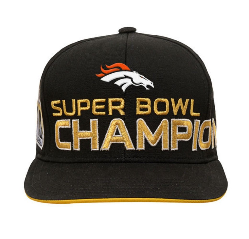 506caf82e Amazon.com   Outerstuff Denver Broncos NFL Super Bowl 50 Champhions Youth  Adjustable Backstrap Hat   Sports   Outdoors