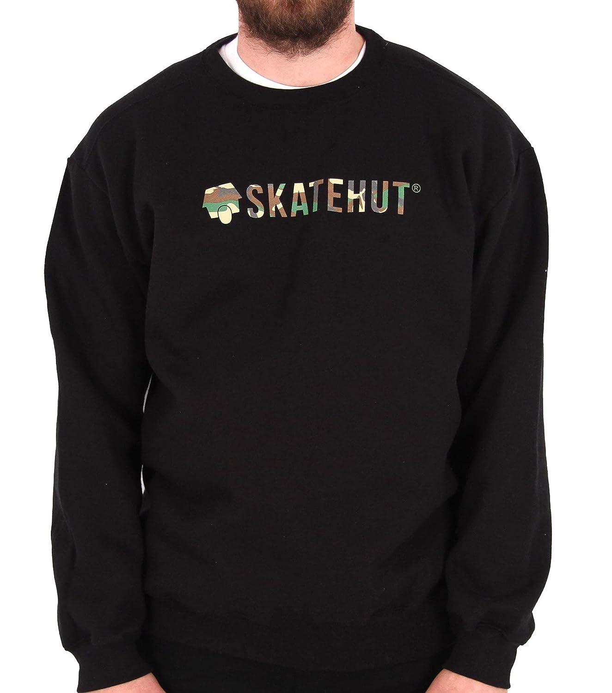 Skate Hut Herren Sweatshirt Schwarz Schwarz/Camoufalge