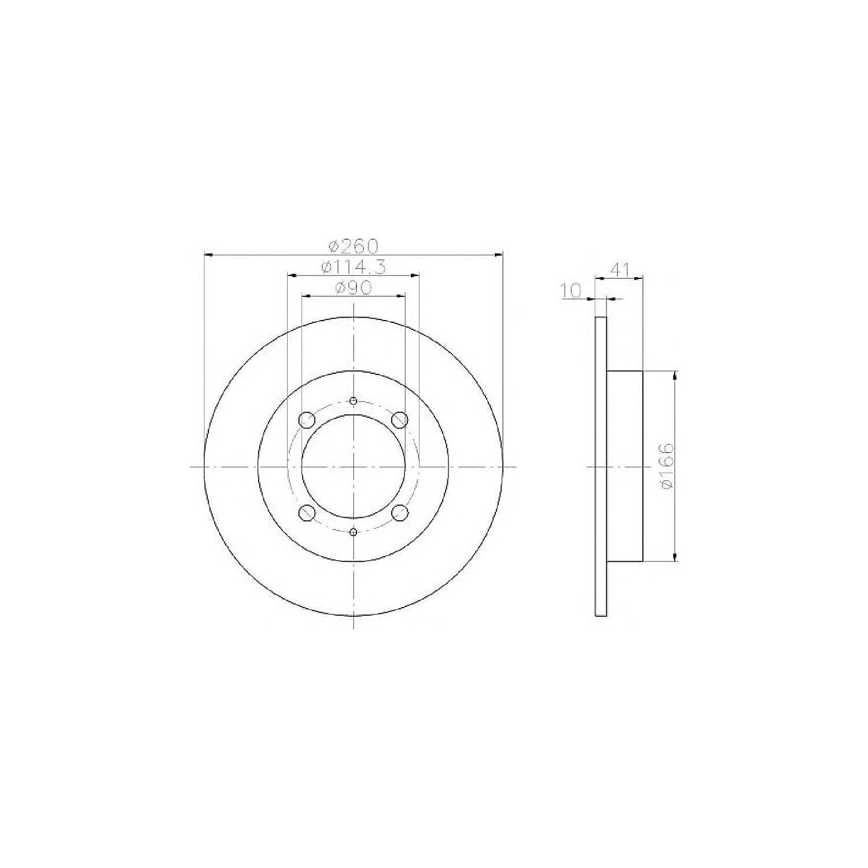 Mintex Genuine Brake Disc /& Pad Set Part Number MDK0120