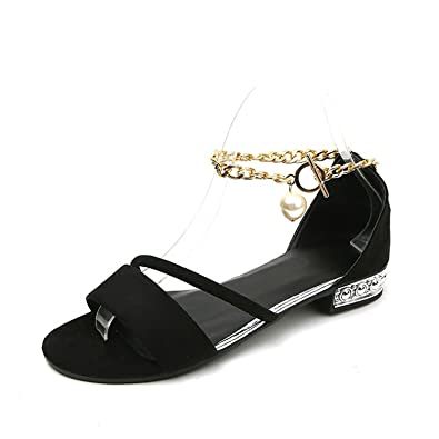 Women's Summer Fashion Open Toe Platform Sandals Beach Shoes-(Black-40/9.5 B(M) US Women)