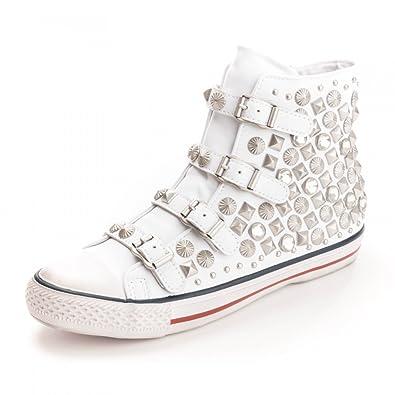 Femme Cuir Chaussures Ash Baskets Blanc Victim en wYqZ6x