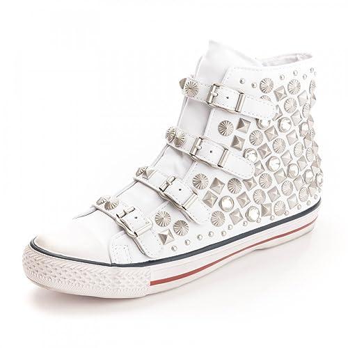 es Cuero Zapatillas Blanco MujerAmazon Ash De Zapatos Victim EDH92I