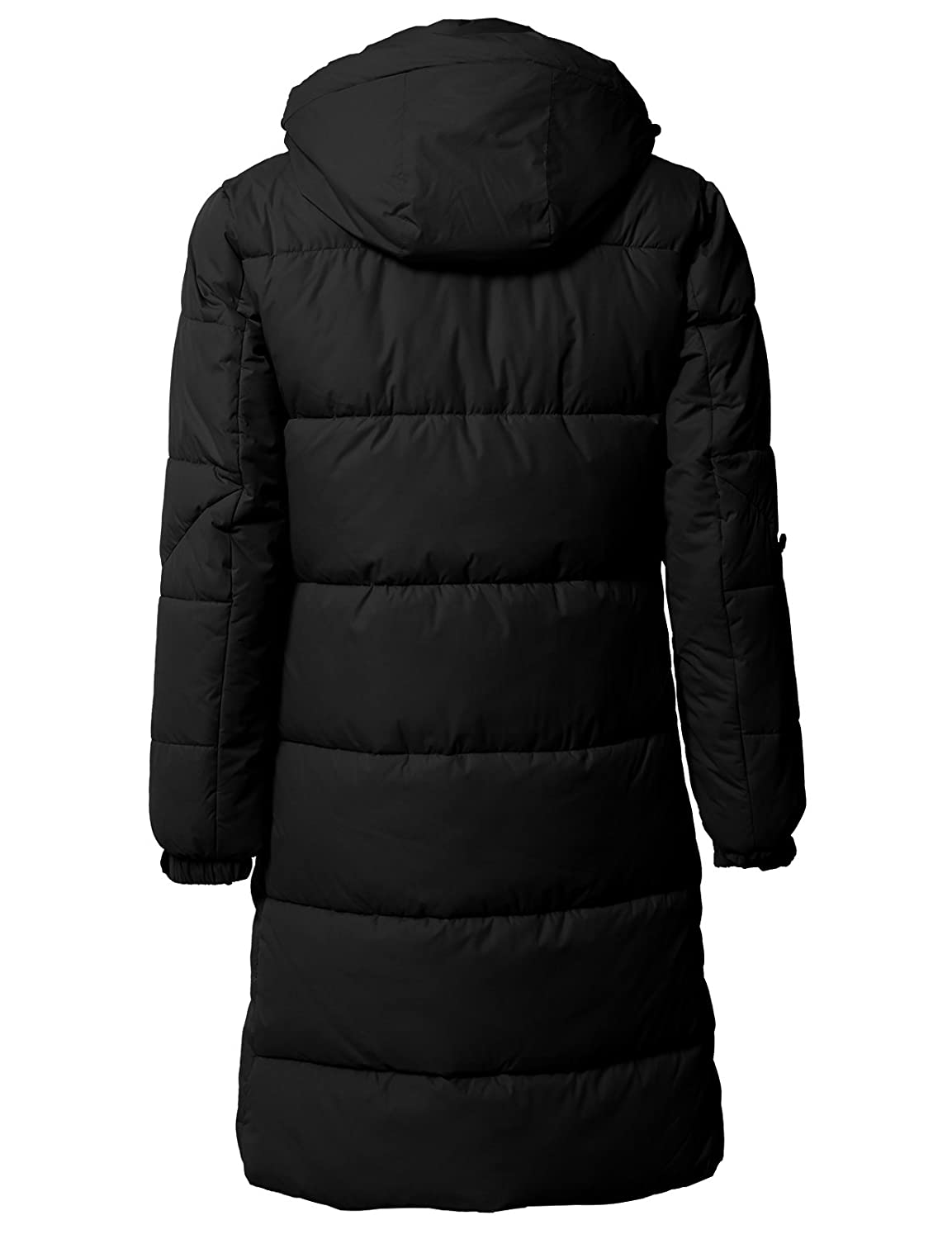 be396df1d H2H Mens Active Puffer Jackets Outerwear Winter Quilted Long Coats with  Hoodie