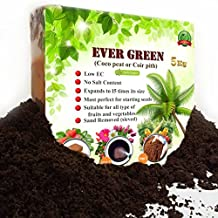 Organic potting soil by Ever Green-Potting mix for succulent indoor,outdoor plant -Coco coir peat /11 pounds (5 Kg) block-Perfect for Orchid pot,Sunflower,Strawberry and all.