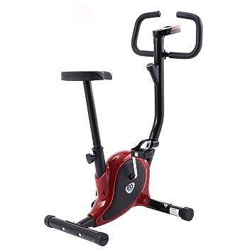COSTWAY LCD Bicicleta Estática Fitness Bike Ejercicio Bicicleta Ergonomía Altura Resistencia Ajustable para Gimnasio Hogar (