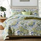Best Comforbed Comforter Sets - 100% Cotton Comforter Green Leaves Design 3-Piece Coverlet Review