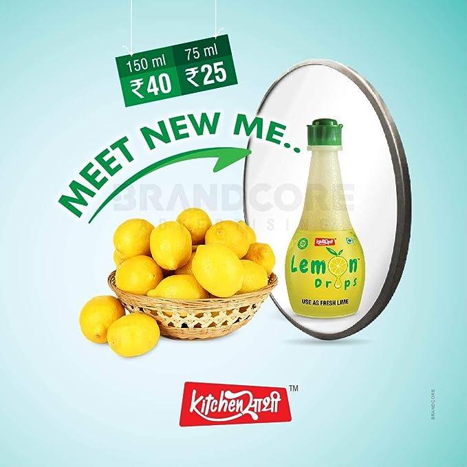 LEMON DROP Lemon Juice (Concentrate)- 150ml(Pack of 3)