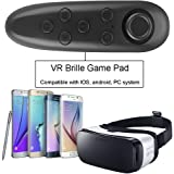 IVSO VR Remote Control - Bluetooth Gamepad Remote Controller for Samsung Gear VR, Phones, Tablets, PC-Easy control for Selfie, Video, Music, Mouse, Ebook, Game and VR-10M Serviceable Rang (Black)