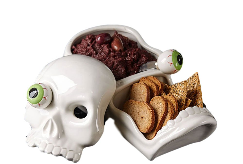 Two's Company Skull Bowl with Eyeball Spreaders