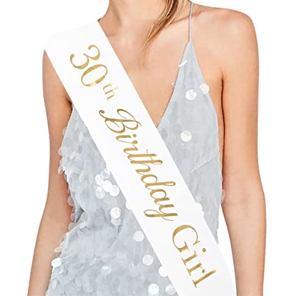 Amazon ADBetty 30th Birthday Girl Sash