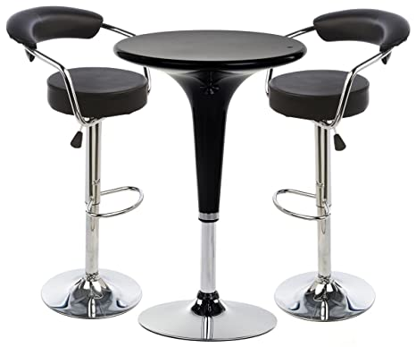 Amazon.com: Taburete de bar y juego de mesa, de mesa, 2 ...