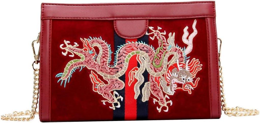 Bags Bolsos Señoras Nuevo Bolso de doble cara Terciopelo sesgado en una sola bolsa de hombro Cadena Bolso cuadrado pequeño,negro de la cinta negro Rojo Del Modelo