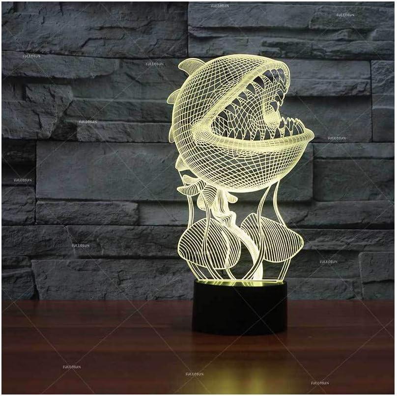 Forma de flor caníbal 3D creativa luz de regalo LED nueva lámpara de mesa pequeña exótica