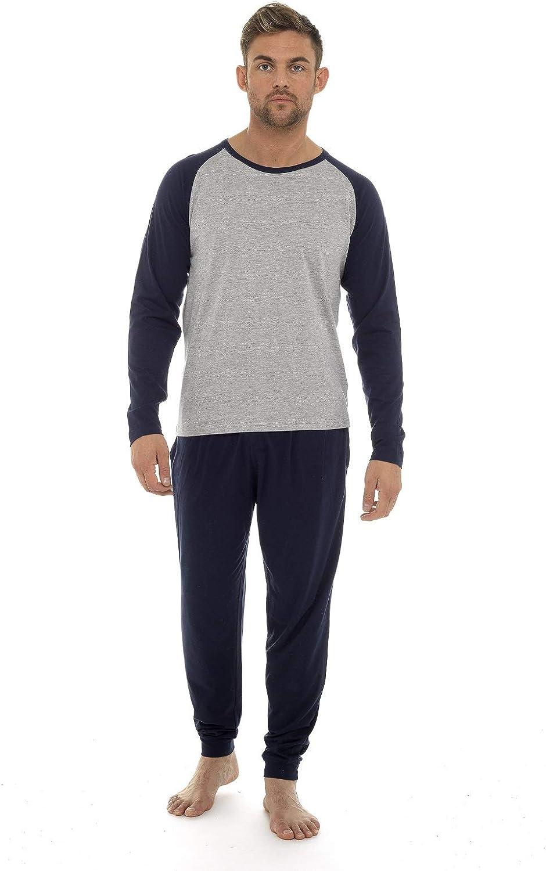 Pijama Hombre Invierno Sudadera Gimnasio 100% Algodón Mangas Largas Set Suave Cómodo Ropa de Dormir