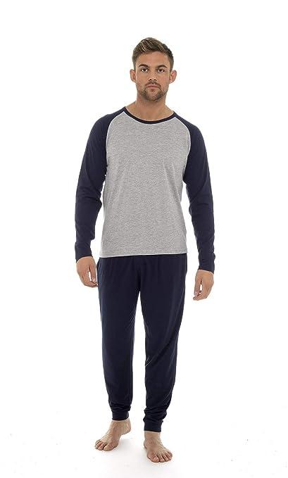 d86a2240d Pijama Hombre Invierno Sudadera Gimnasio 100% Algodón Mangas Largas Set  Suave Cómodo Ropa de Dormir