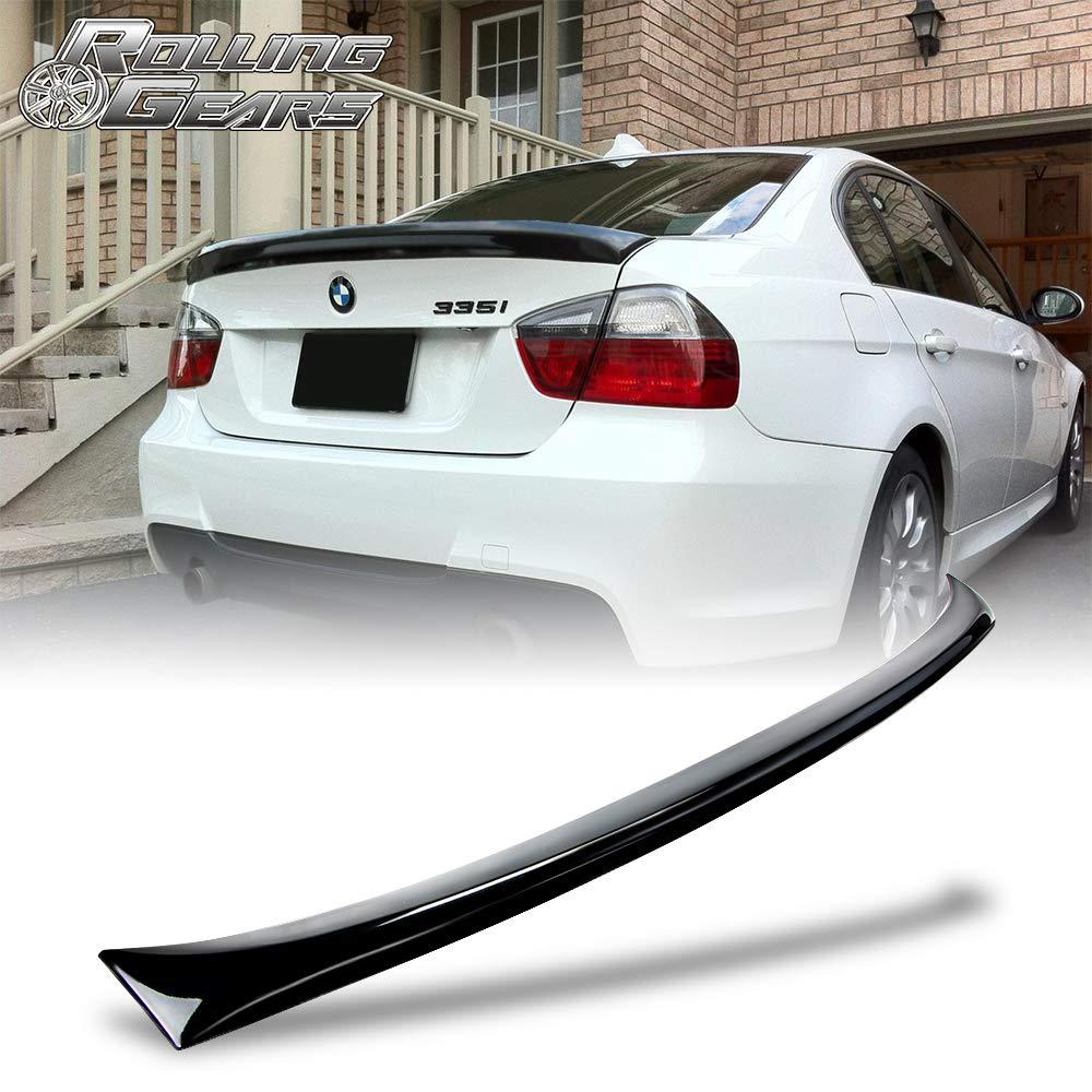 05-12 3-Series E90 4D M3 Type Rear Trunk Lip Spoiler Wing Black ABS