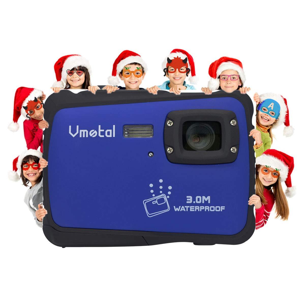 Kids Waterproof Camera, Vmotal Digital Camera for Kids 2.0 Inch TFT Display Children Kids Digital Camera (Blue) by Vmotal