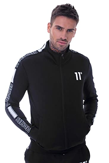 0c3bedf9f28d 11 Degrees Optum Poly Track Top Black: Amazon.co.uk: Clothing