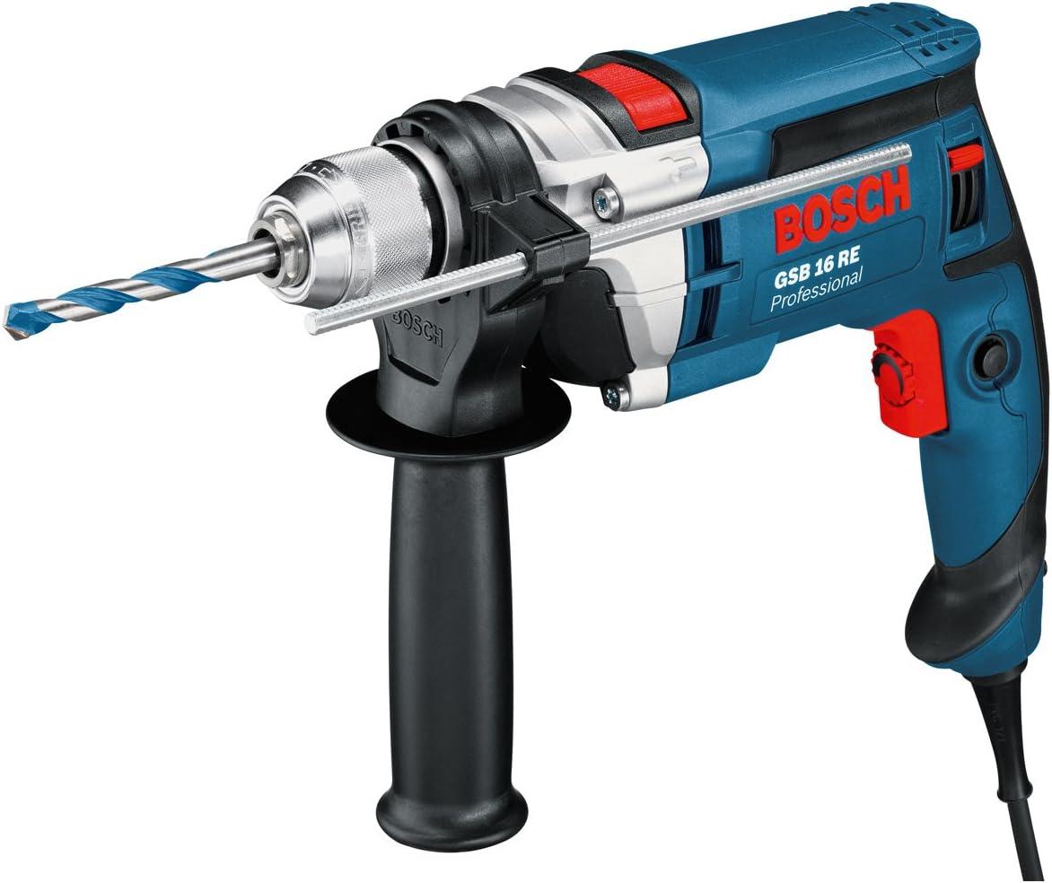 Bosch Professional 060114E500 Perceuse à percussion GSB 16 RE 750 W
