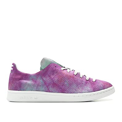 size 40 04568 4ae67 adidas x Pharrell Williams Men Hu Holi Stan Smith MC Purple Chalk Coral  Footwear White Size