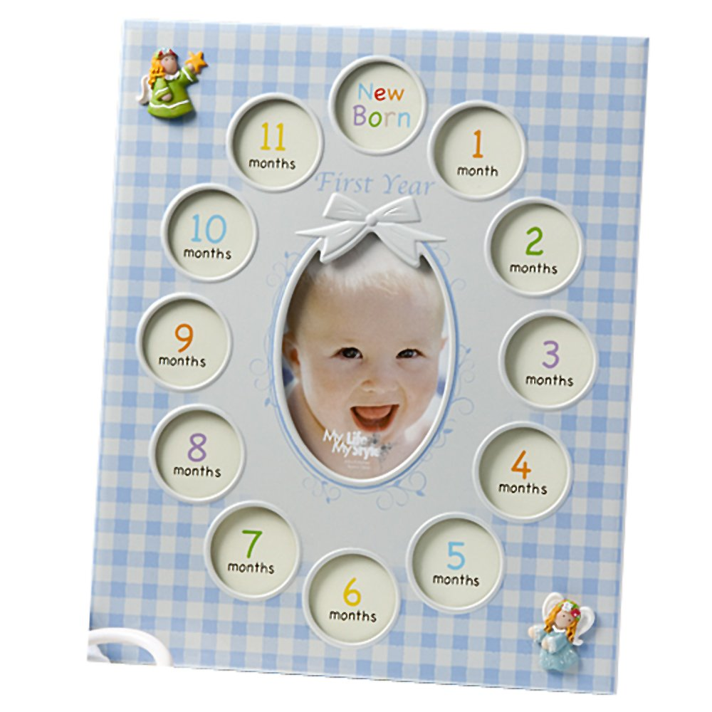 Baby Boy's First Year collage frames