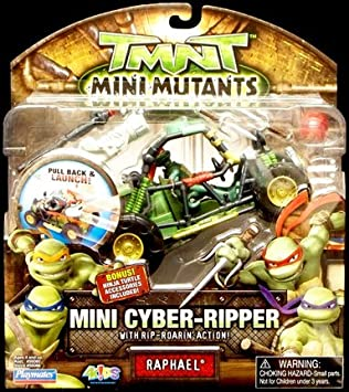 Amazon.com: TMNT Mini Cyber-Ripper Raphael: Toys & Games